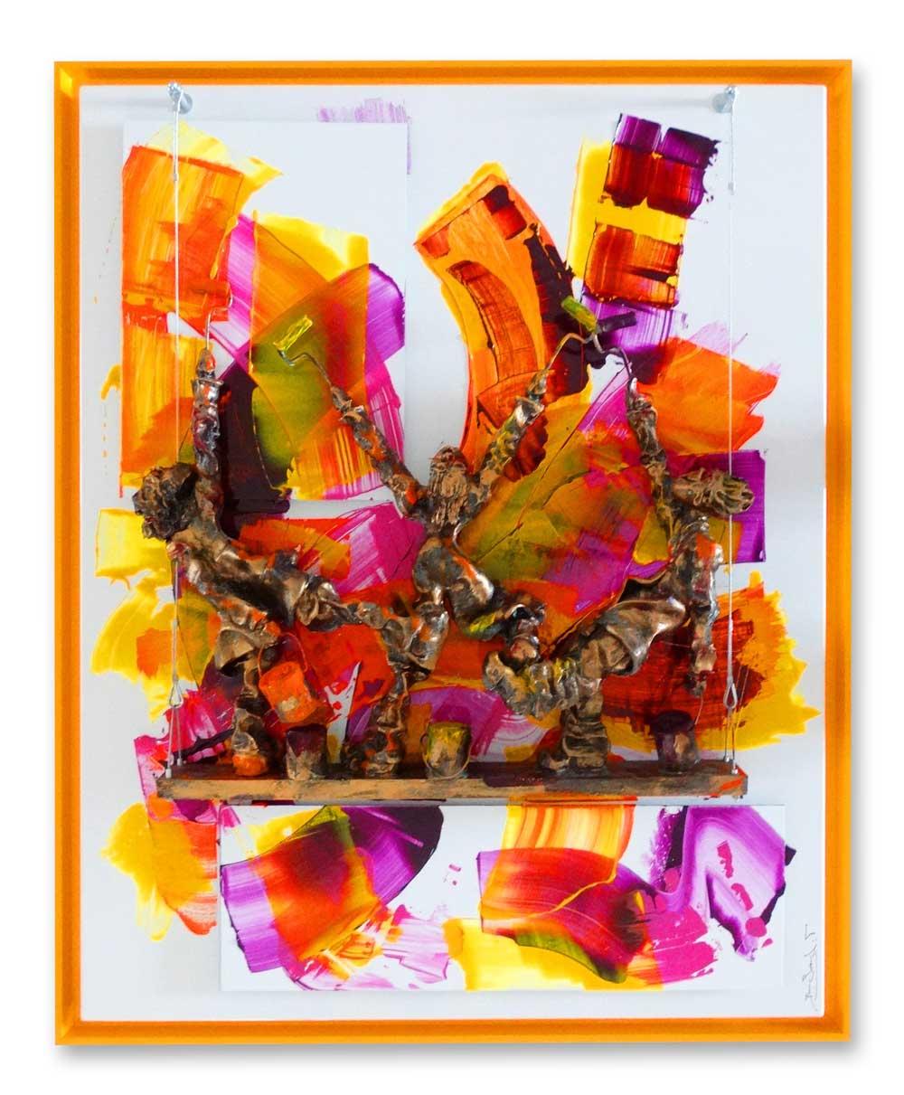 Bernard Saint Maxent - Abstraction - 80x100cm