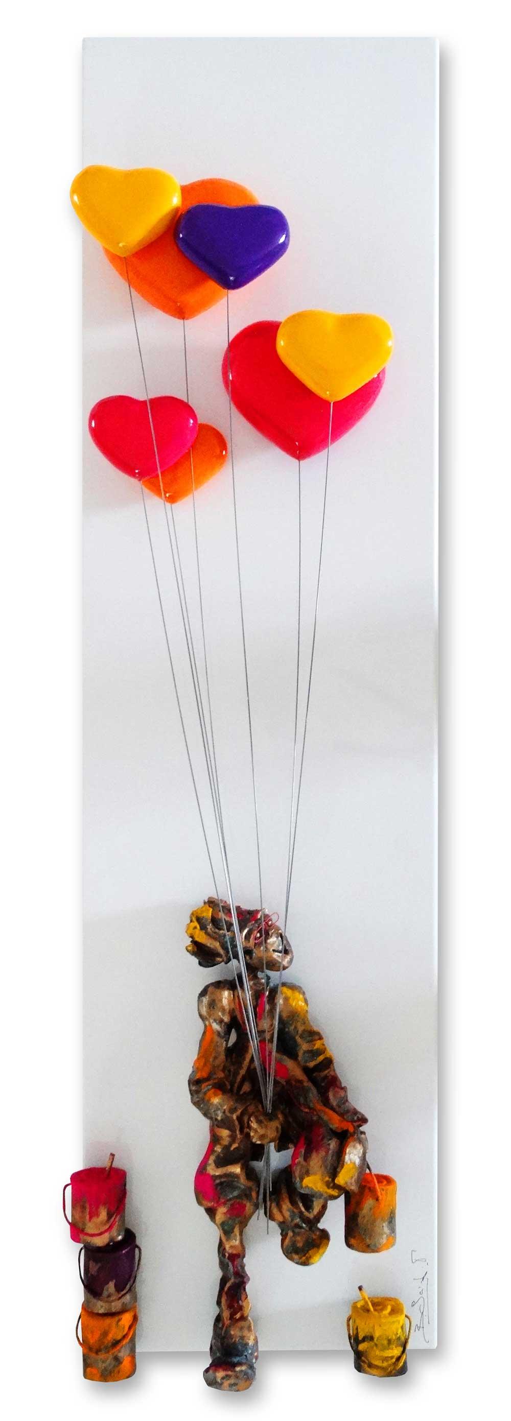 Bernard Saint Maxent - Love Balloons - 30x100cm