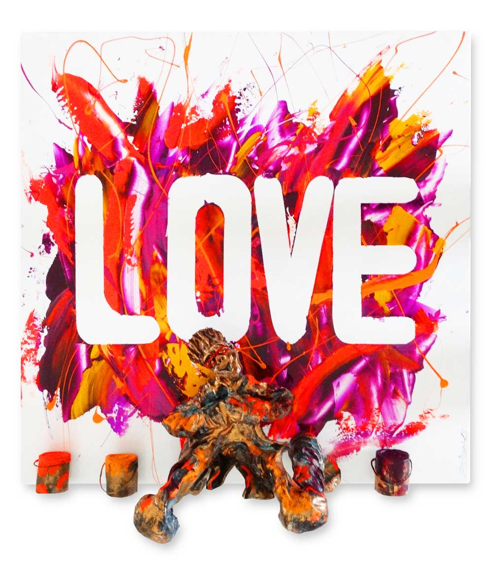 Bernard Saint Maxent - Splash love - 80x80cm