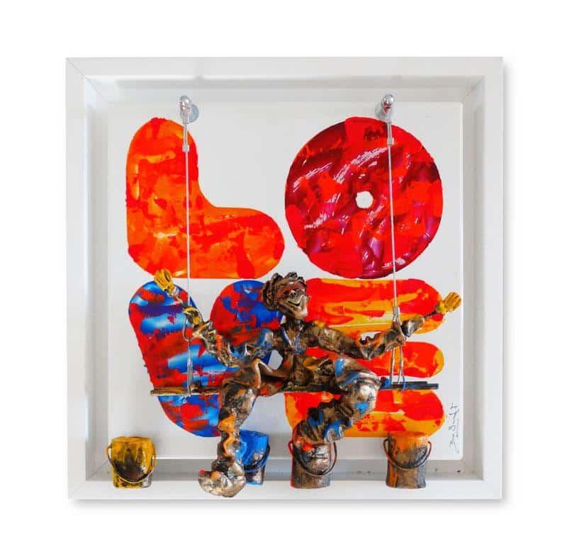 Bernard Saint Maxent - Colors love - 50x50cm