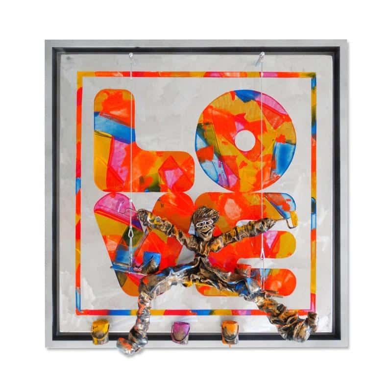 Bernard Saint Maxent - Fluo love - 80x80cm