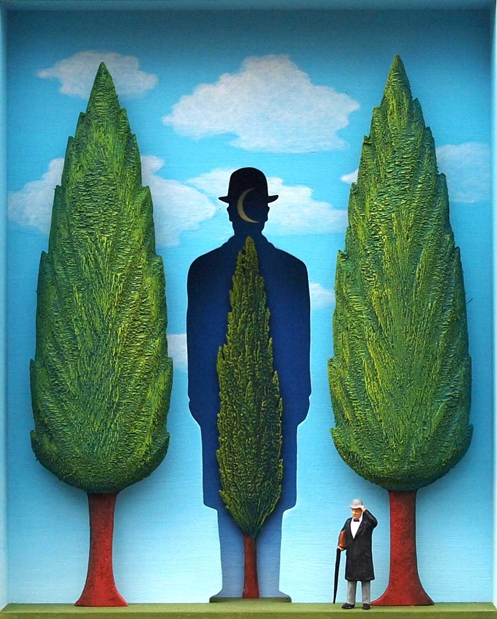 Volker Kühn - The-garden-of-Magritte - Art in Boxes