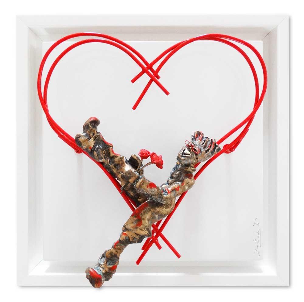 Bernard Saint Maxent - Love flowers - 40x40cm