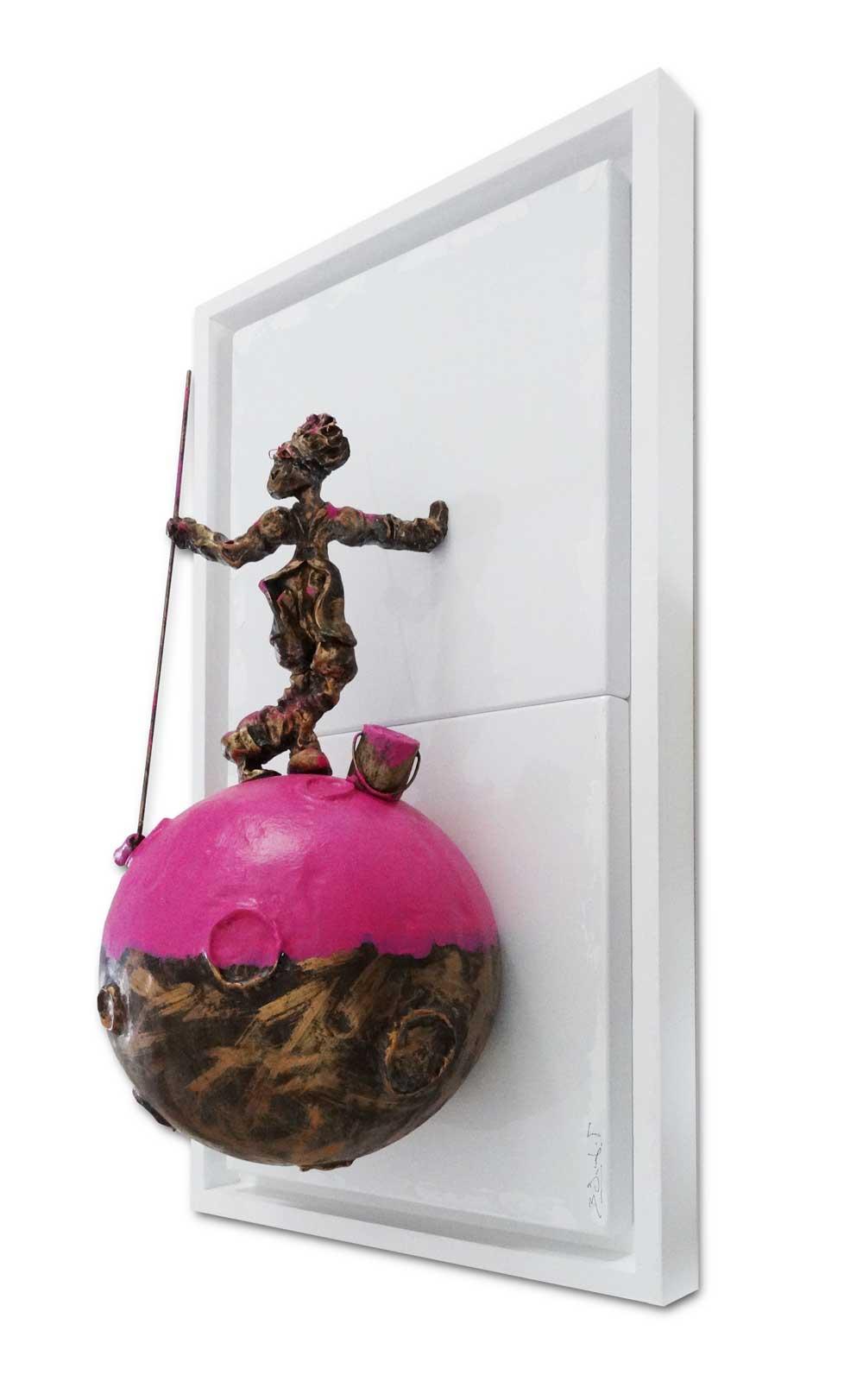 Bernard Saint Maxent - Pink Planet - 40x80cm