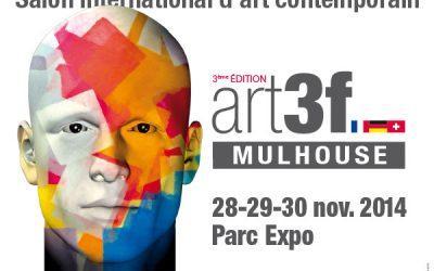 Invitations au salon d'art contemporain de Mulhouse.