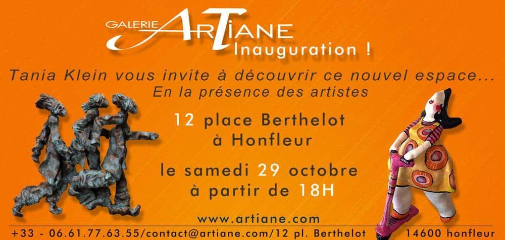 inauguration galerie Artiane Honfleur
