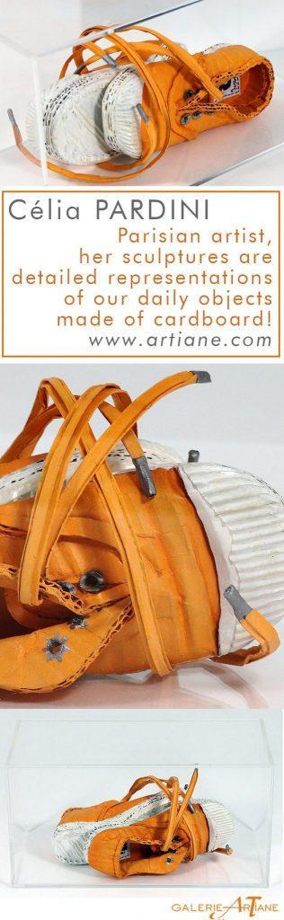 Orange Shoe - 29x15x14cm - Cartons,pigments,liant vinylique