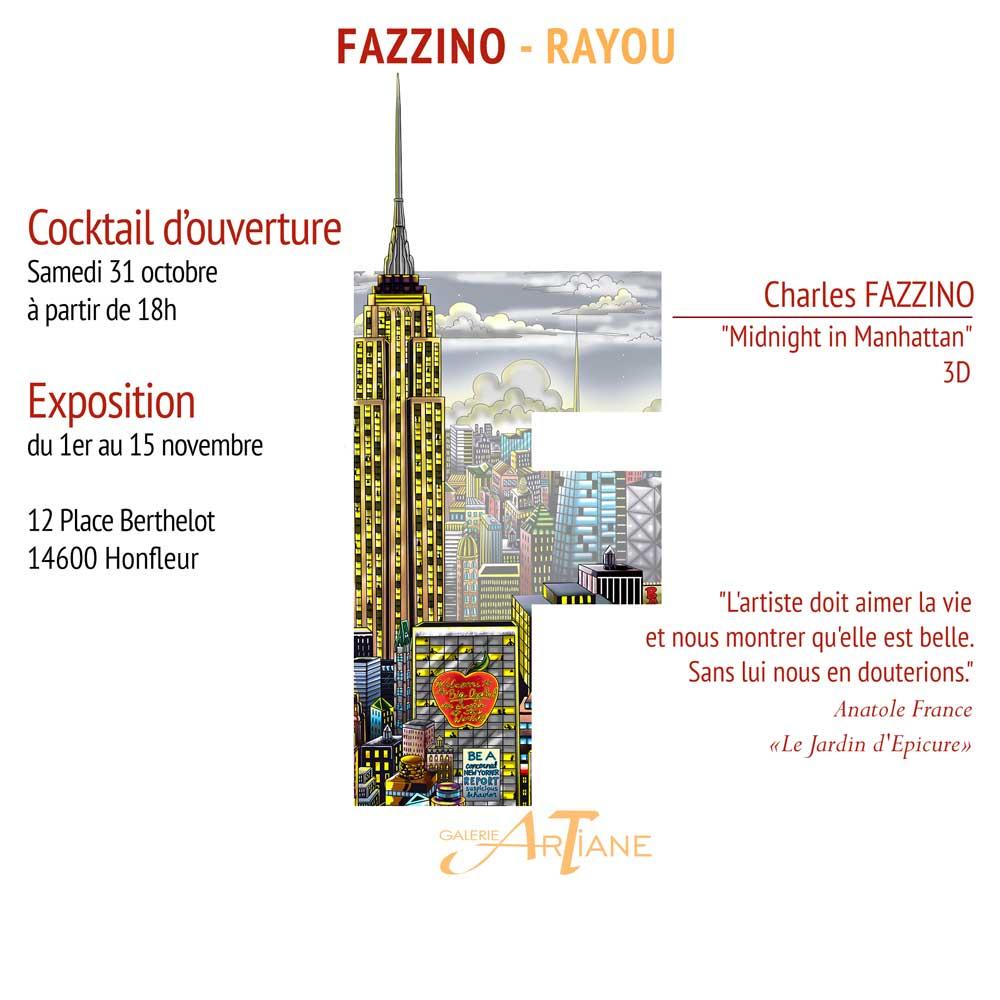 Vernissage Charles FAZZINO Dominique RAYOU
