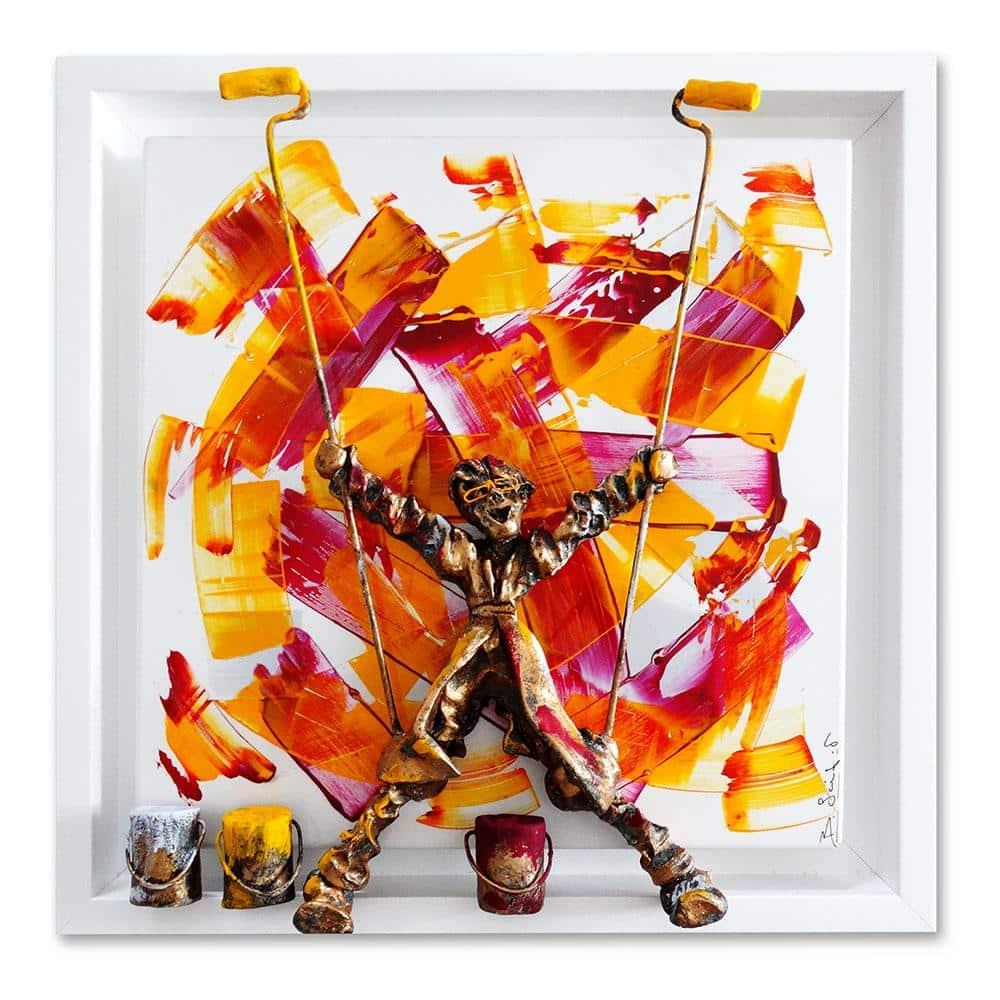 Bernard Saint Maxent - Abstraction - 50x50cm