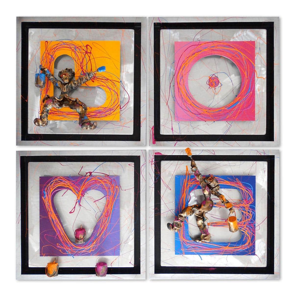 Bernard Saint Maxent - Quadri love - 80x80cm