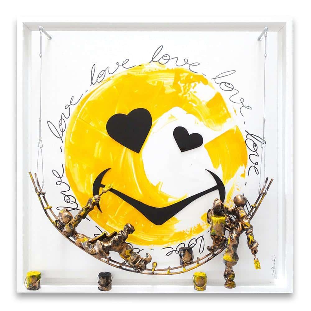 Bernard Saint Maxent - Smiley love - 80x80cm